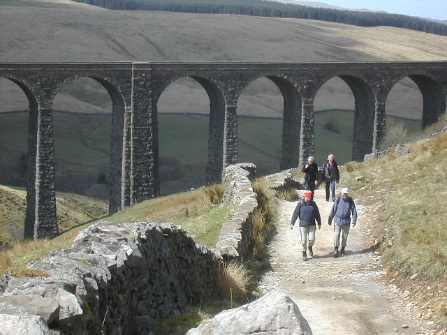 Photo: Walkers at Arten Gill, Dentdale