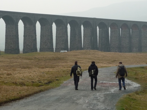 RHD viaduct and walkers
