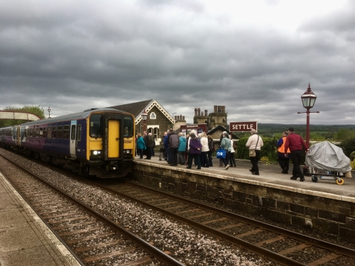 Passengers boarding at Settle