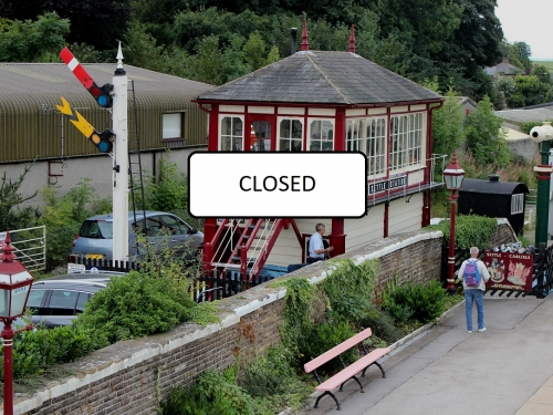 Settle signal box closed