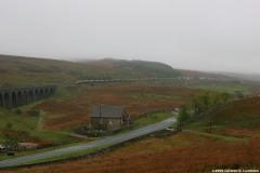 Photograph: Freight train in mist at Garsdale
