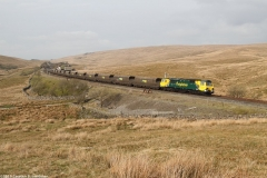 Photograph: Freight passing Blea Moor