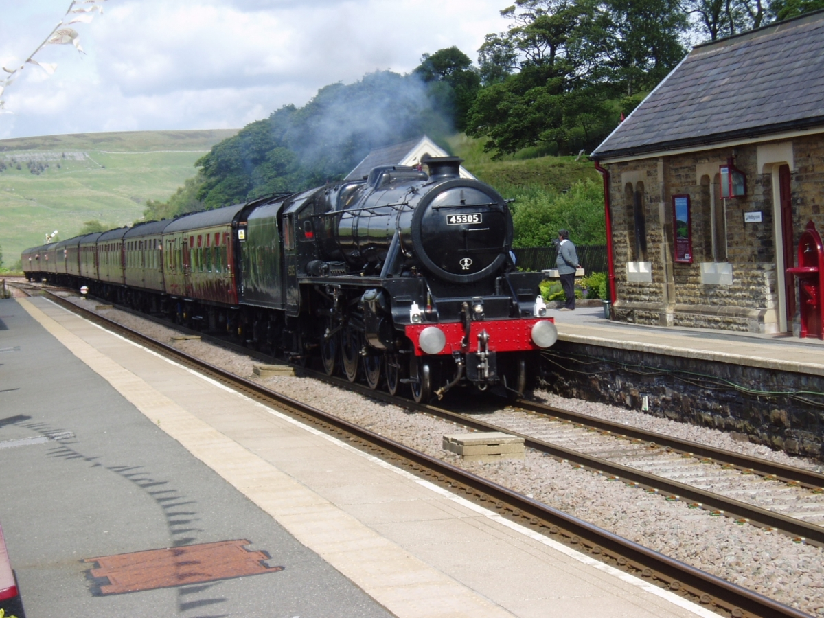 Photo: Southbound steam charter passing Garsdale on July 23rd, 2011